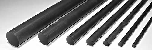 Solid Round Carbon Rods