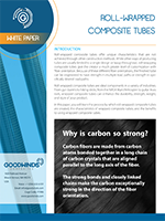 white paper rolled carbon tubes